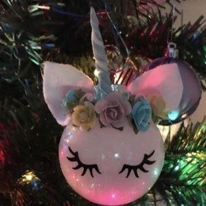 Unicorn ornament custom made